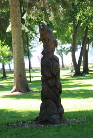 Coeur d'Alene City Park and Independence Point: Sculpture in City Park