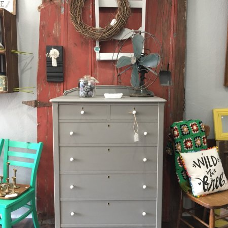 Vintage painted furniture and Iowa shirts and hoodies!!!