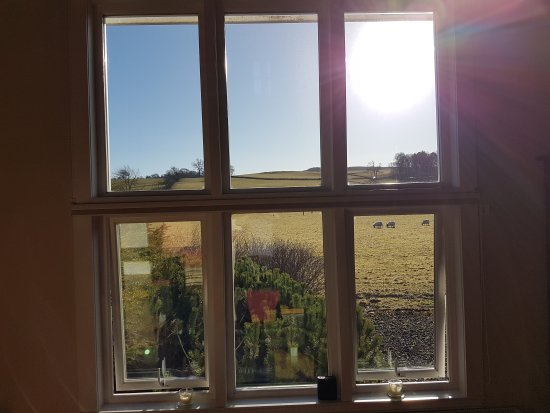 Comrie, UK: Great view from the large living room window