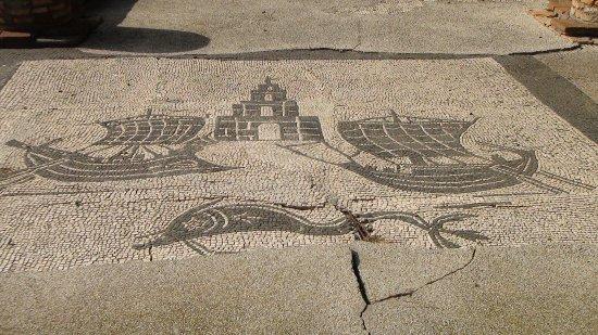 Ostia Antica, Italie : mosaïque des thermes de Neptune