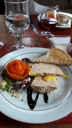 Marmagne, Frankreich: foie gras