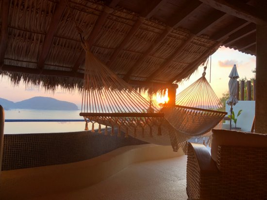 Hotel Cinco Sentidos: Sunset from the Grand Suite