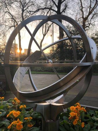The Savoy: Morning sunrise from adjacent Embankment Park