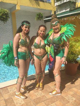 Maraval, Trinidad: Carnival 2018 Guests.  Fun in the sun.