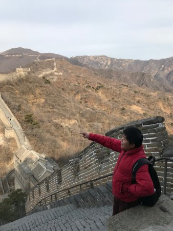Travel China Guide : Our guide at the Great Wall of China
