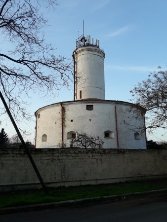Lankaran, Azerbaijan: Lighthousesurrounded by walls