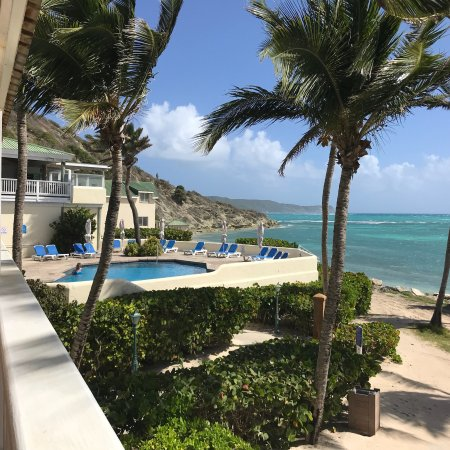 Mamora Bay, Antigua: A few pictures of St. James Club from our porch overlooking the Atlantic, the bay side and some