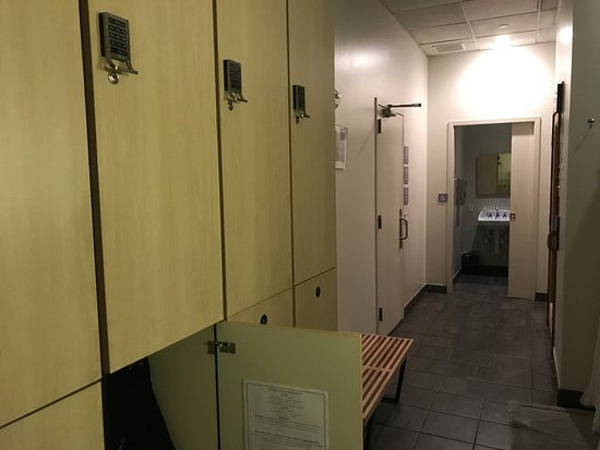 Clean, comfortable locker rooms with full ammenities (toiletries ...