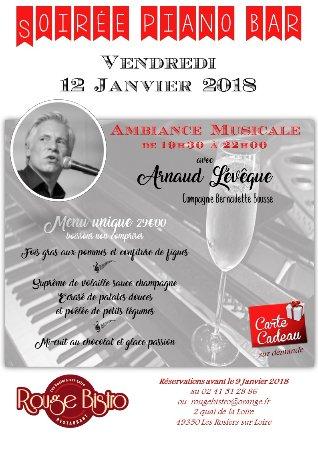 Les Rosiers sur Loire, France: Soirée Piano Bar