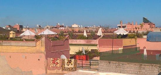 Riad Dar El Masa: Terrace - Vue sur Marraquexe