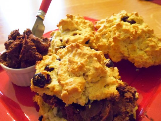 Newark, NY: Cherry Bisquits with Chocolate Butter