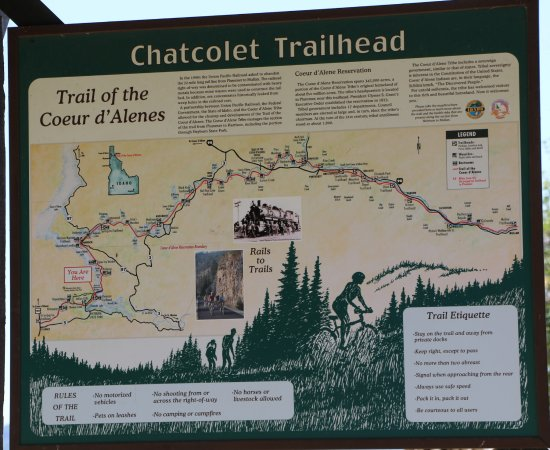 Trail of the Coeur d'Alenes: Trail Map