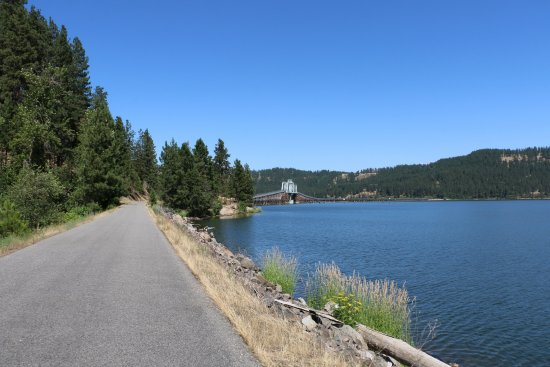 Trail of the Coeur d'Alenes, Chatcolet Bridge in the Distance