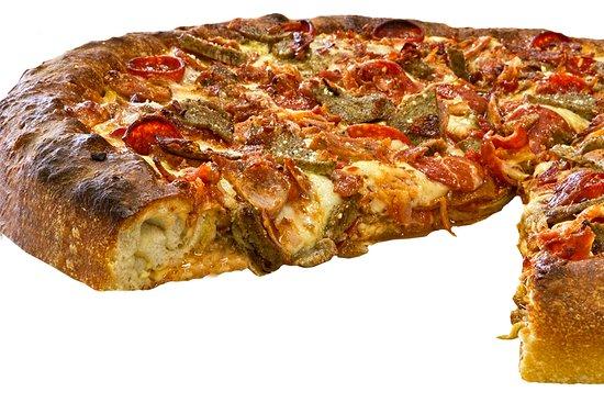 Joe's Brooklyn Pizza : Stuffed Bomber Pizza.  8 Lbs of Pizza!!!!!