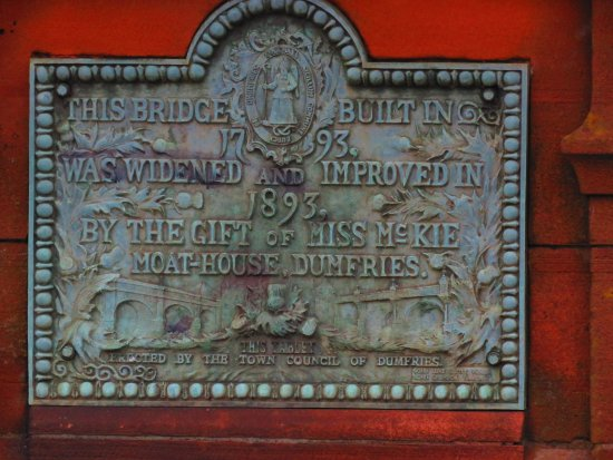 Dumfries og Galloway, UK: cast iron plaque