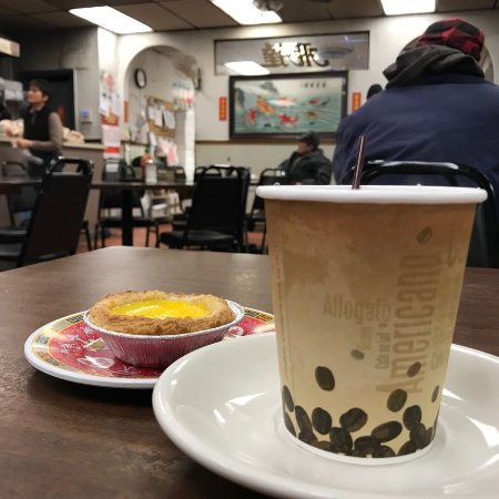 Chicago Chinatown : my tea and egg tart