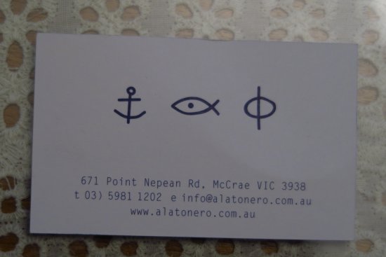 McCrae, Australien: Back of card, with full contact details