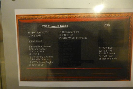 Cable TV channels - Picture of Best Western Hotel Causeway