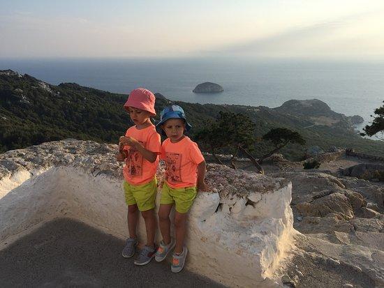 Monolithos Castle: Widok w dół
