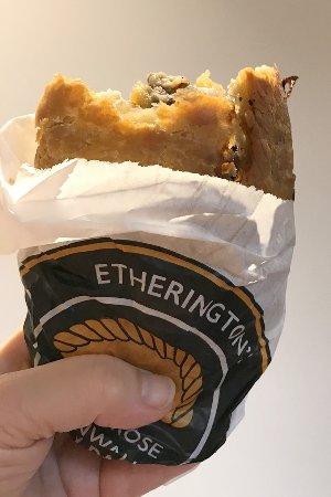 Scorrier, UK: Pasty - best eaten straight out of paper bag
