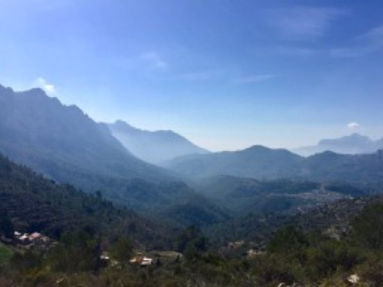 From Coll de Rates looking towards Tarbena (South west)