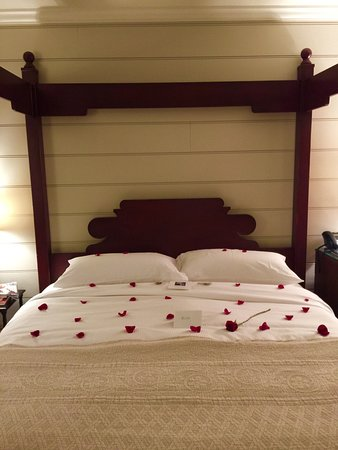 Old Edwards Inn and Spa: A rose petal strewn bed was an added touch