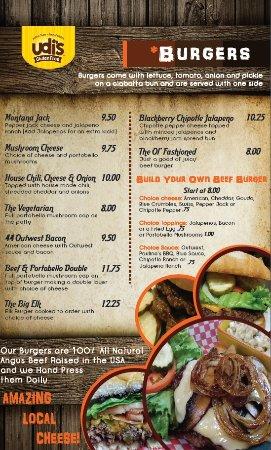 Saint Ignatius, MT: Burger Menu