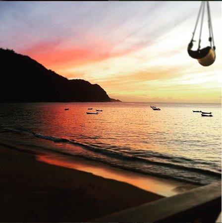 Castara, Tobago: Sunset from balcony
