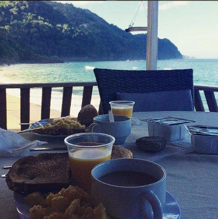 Castara, Tobago: Breakfast