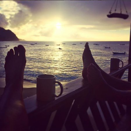 Castara, Tobago: Teatime