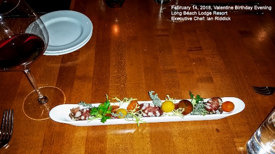 Long Beach Lodge Resort : house made porchini mushroom and air dried pork sausage