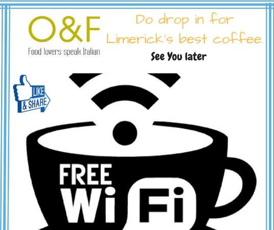 Olio and Farina: free wi-fi