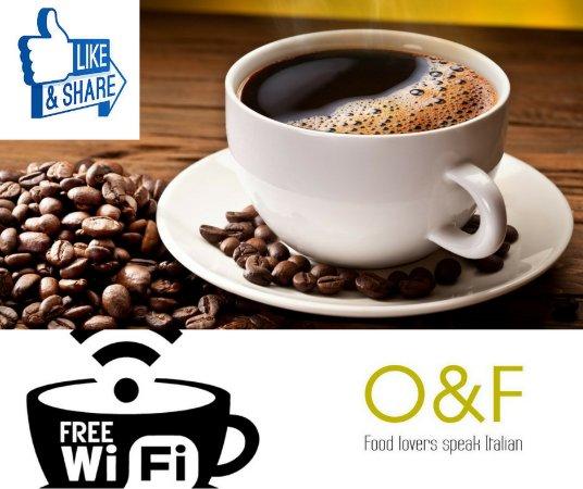 Olio and Farina: We love coffee.