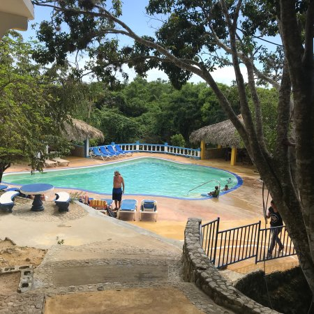 Blue Hole Mineral Spring & Resort. Worth the trip up into the hills. Great view from the top of