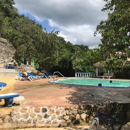 Little Bay, Jamaica: Blue Hole Mineral Spring & Resort. Worth the trip up into the hills. Great view from the top of