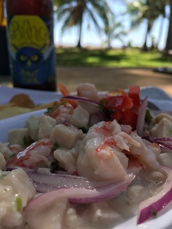 Playa San Miguel, Costa Rica: mouth watering ceviche