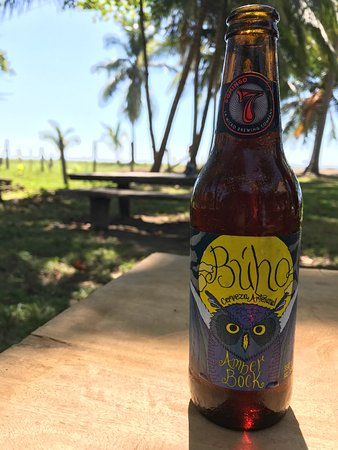 Playa San Miguel, Costa Rica : local brew