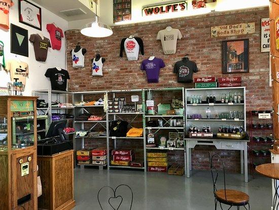 Dublin, TX: Inside Old Doc's Soda Shop....