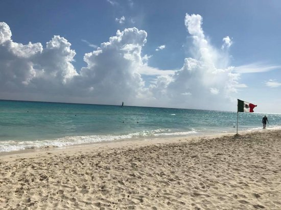 Sandos Playacar Beach Resort: Flawless Beach!