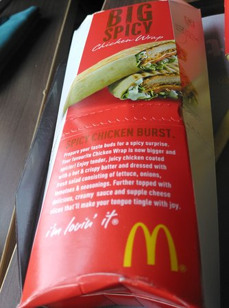 Big Spicy Chicken Wrap Picture Of Mcdonalds Hyderabad Tripadvisor