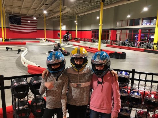 Hatfield, MA: three 12 year old girls ready to race.