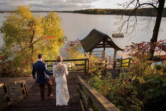 Birchwood, WI: Down to the swim dock. markkegansphoto.com