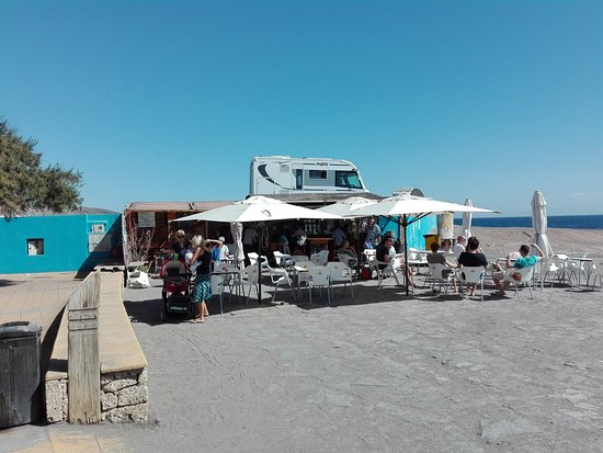El Medano, Spain: Bar on the beach