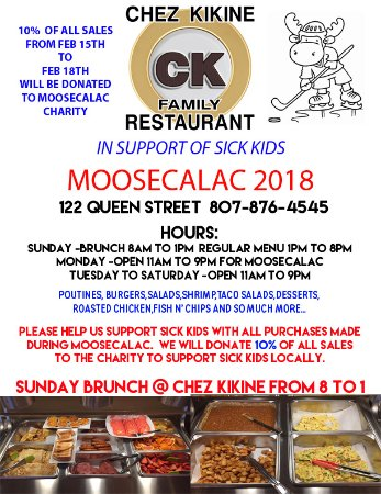 Longlac, Kanada: moosealac and sunday brunch poster ad