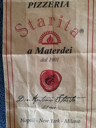 Pizzeria Starita a Materdei: little bag