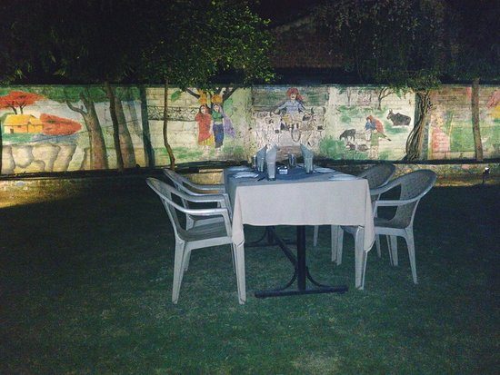 Dwarka Garden Restaurant: The Nice Outdoor Ambience, With Murals On The  Walls