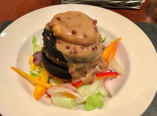 Cleator, UK: Black Pudding & Haggis stack