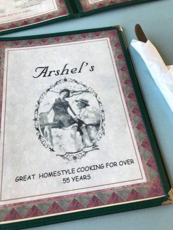 Beaver, UT: Menu at Arshel's Cafe