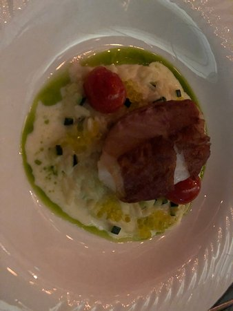 Felix: Toothfish wrapped with Proscuitto on Orzo