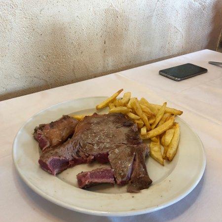 Villalmanzo, İspanya: Chuleton en el menu
